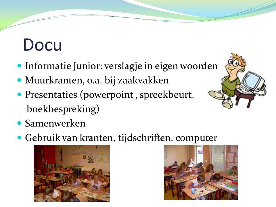 Docu Informatie Junior: verslagje in eigen woorden