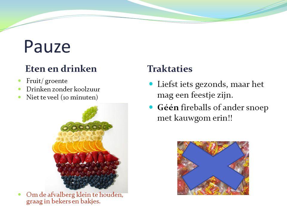 Pauze Eten en drinken Traktaties
