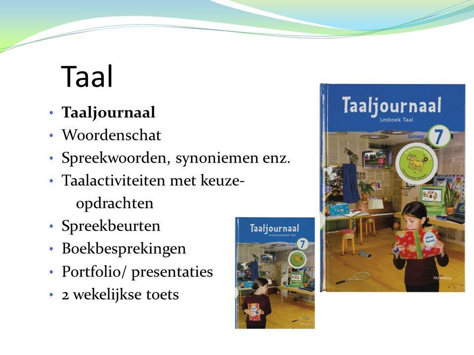 Taal Taaljournaal Woordenschat Spreekwoorden, synoniemen enz.