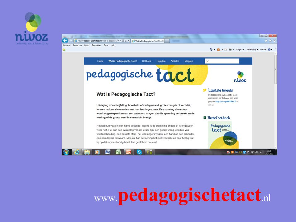 l www.pedagogischetact.nl