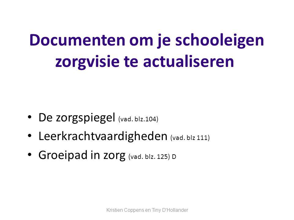 Documenten om je schooleigen zorgvisie te actualiseren