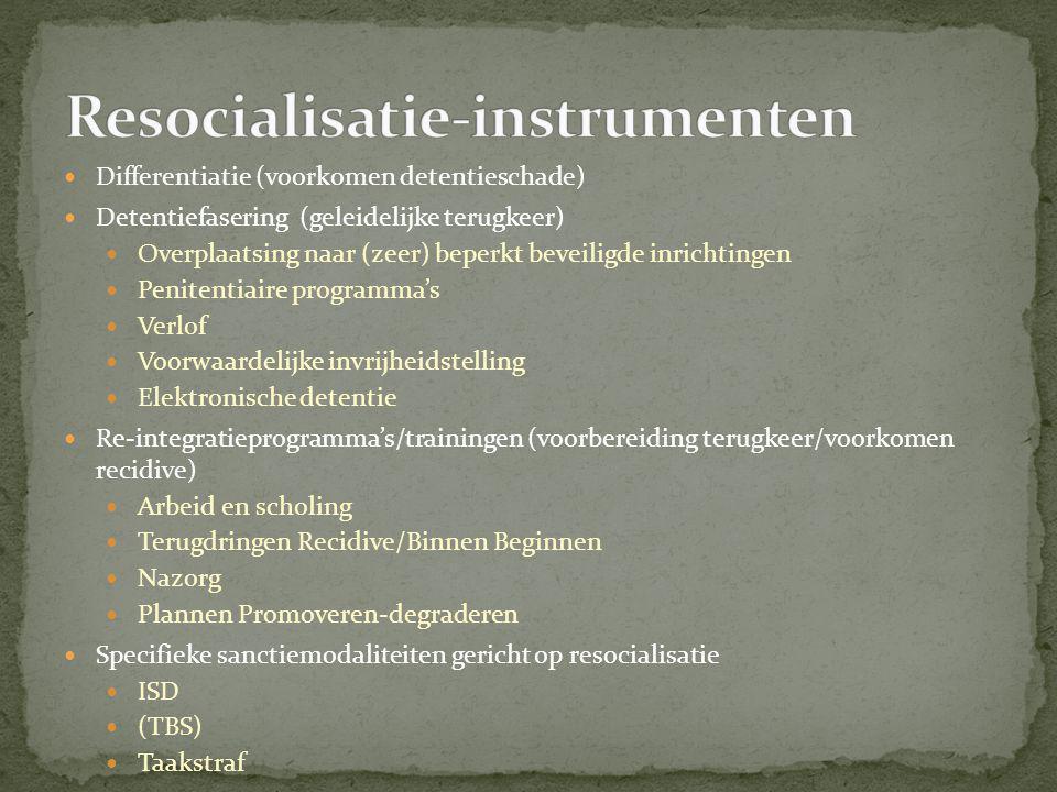 Resocialisatie-instrumenten