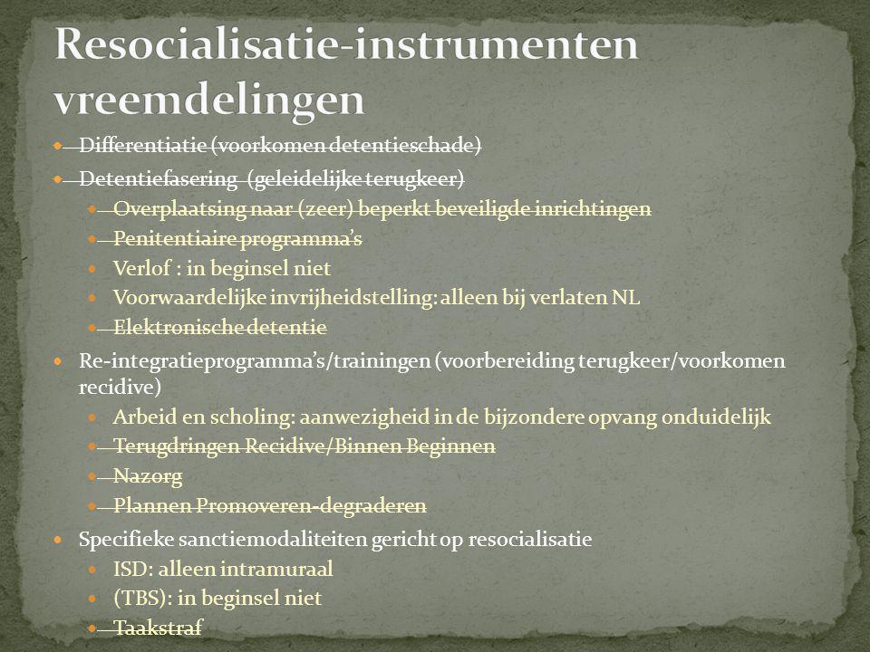 Resocialisatie-instrumenten vreemdelingen
