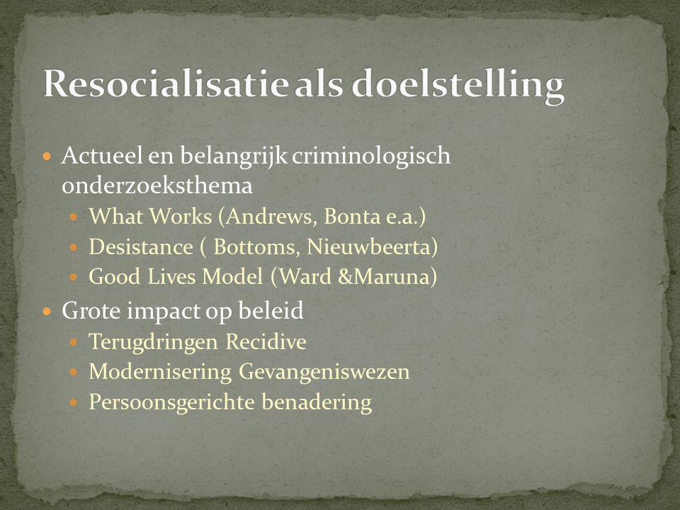 Resocialisatie als doelstelling