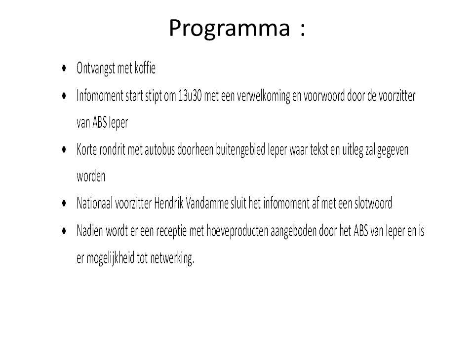 Programma :
