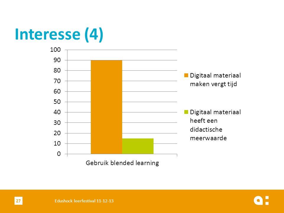 Interesse (4) Edushock leerfestival 11-12-13