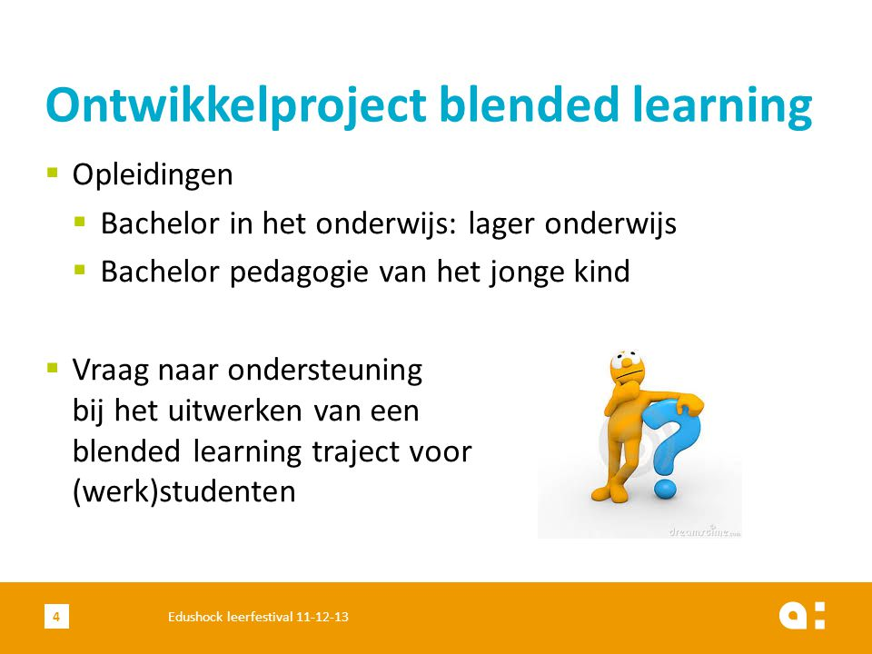 Ontwikkelproject blended learning