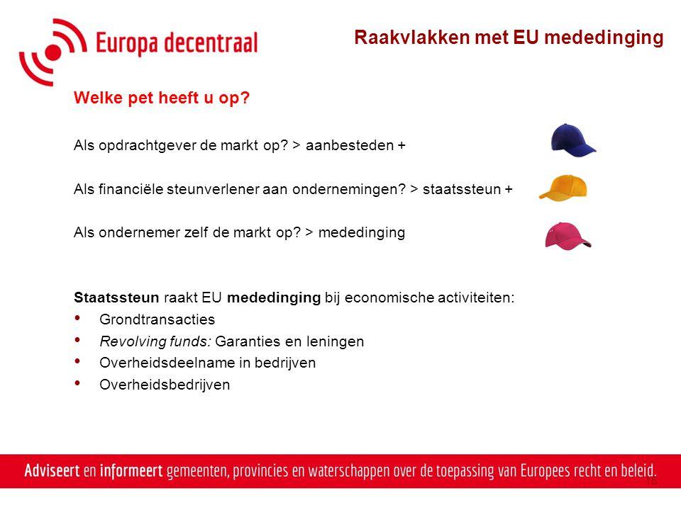 Raakvlakken met EU mededinging