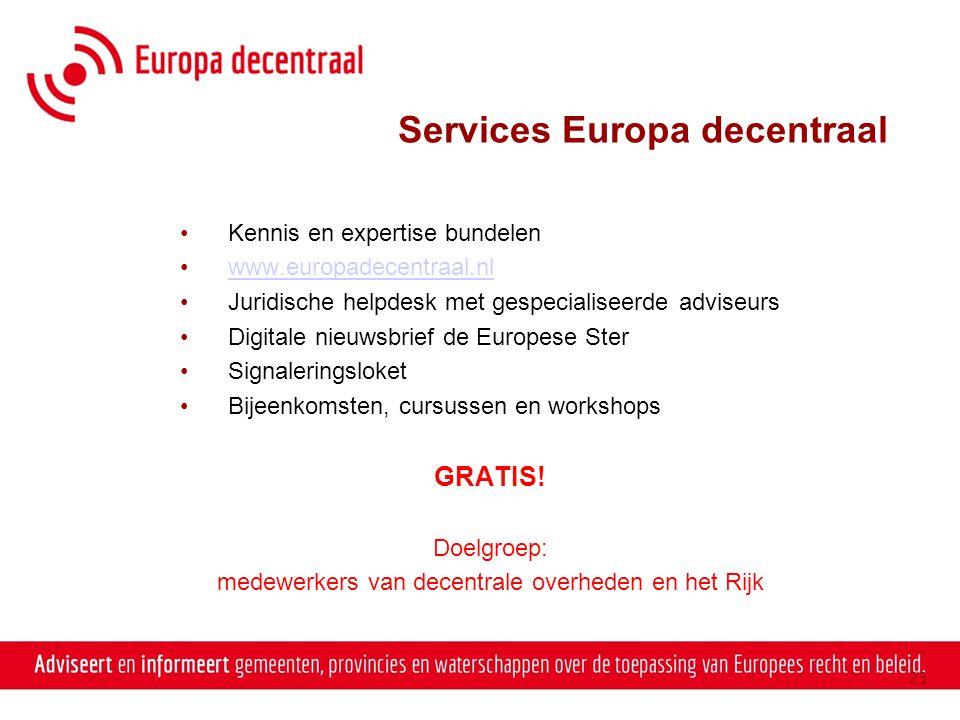 Services Europa decentraal