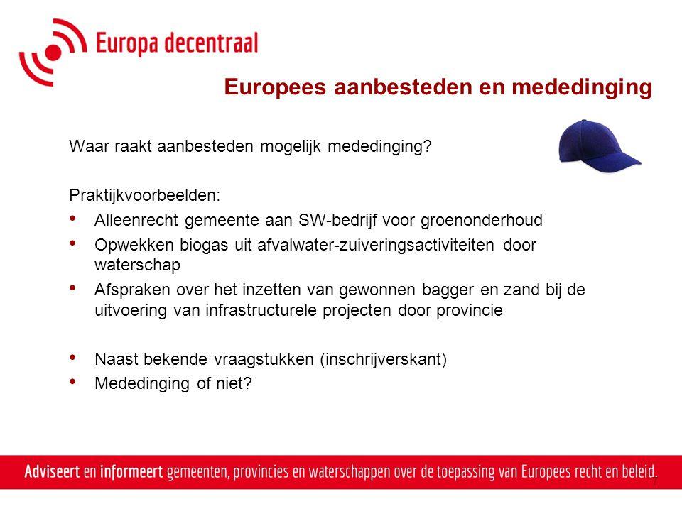 Europees aanbesteden en mededinging
