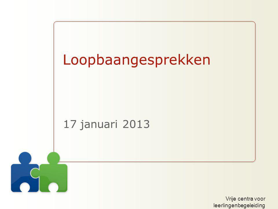 Loopbaangesprekken 17 januari 2013