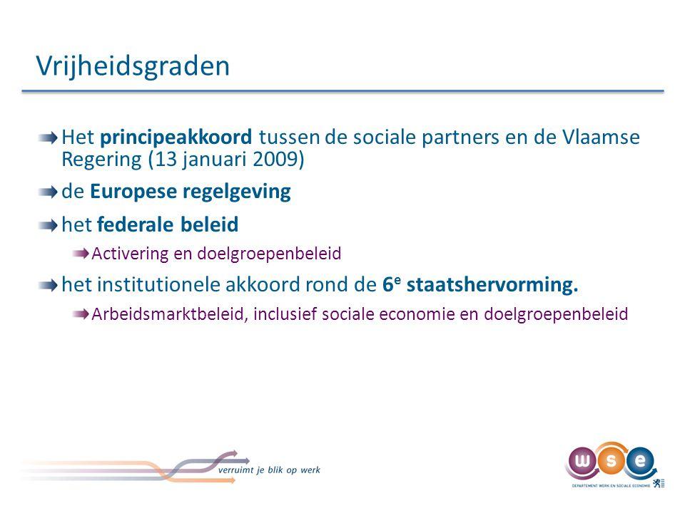 Vrijheidsgraden Het principeakkoord tussen de sociale partners en de Vlaamse Regering (13 januari 2009)