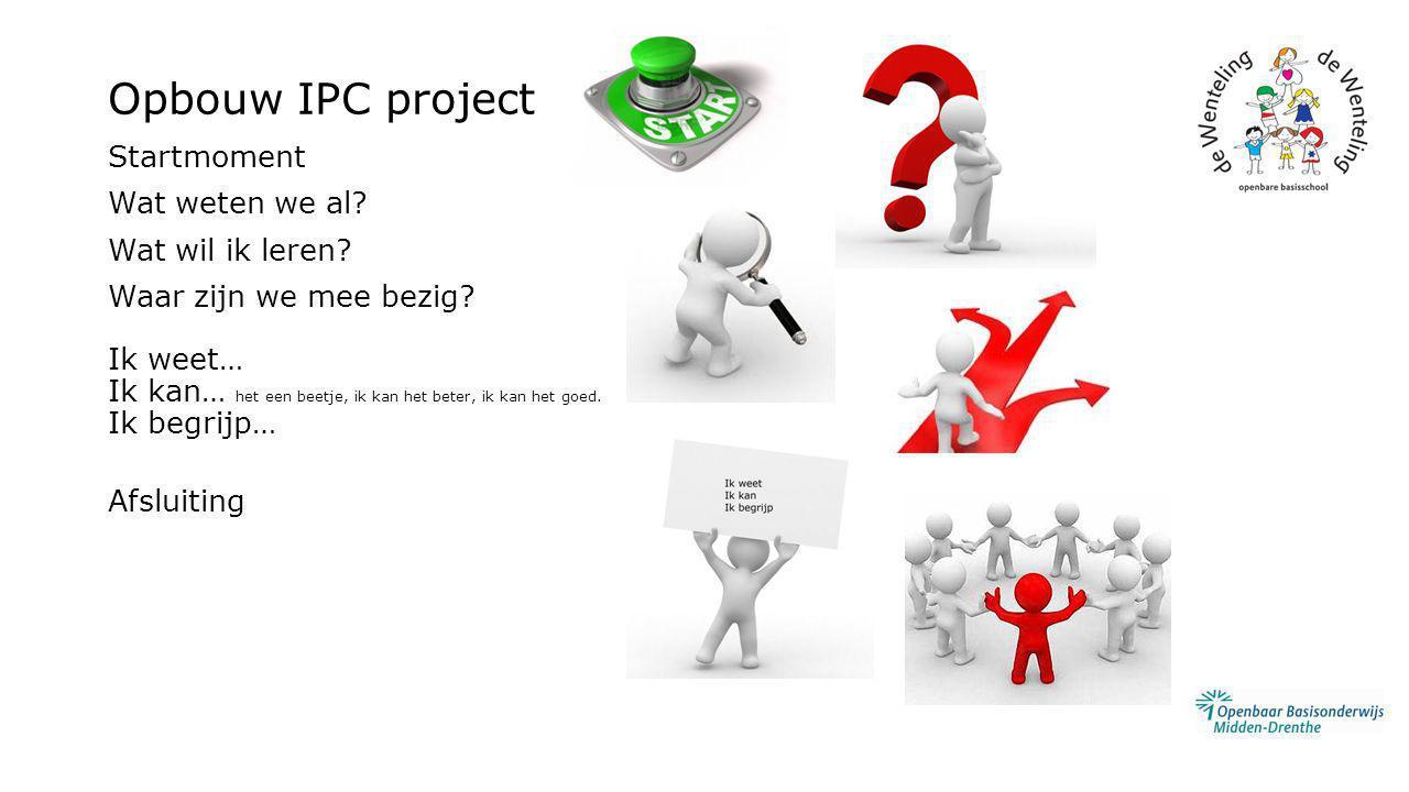 Opbouw IPC project Startmoment Wat weten we al Wat wil ik leren