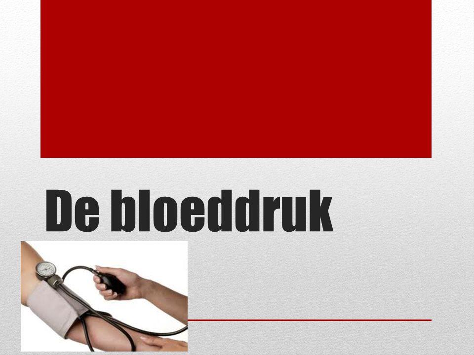 De bloeddruk