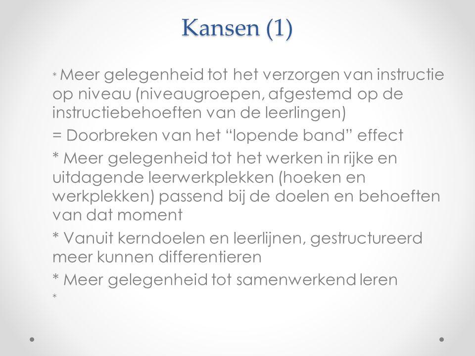 Kansen (1) = Doorbreken van het lopende band effect