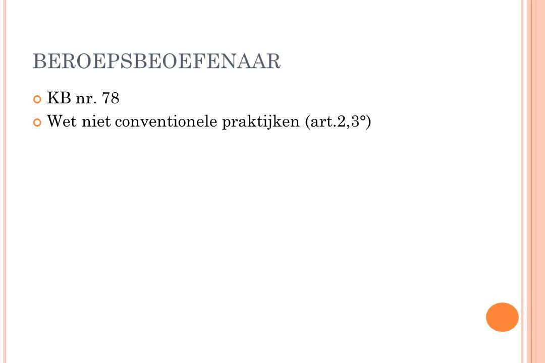 BEROEPSBEOEFENAAR KB nr. 78