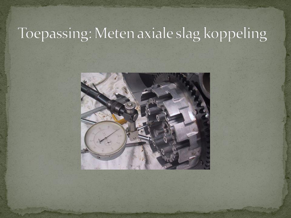 Toepassing: Meten axiale slag koppeling