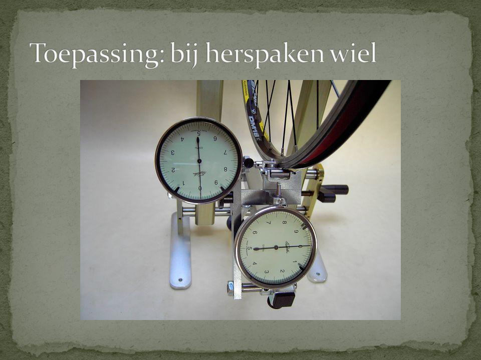 Toepassing: bij herspaken wiel