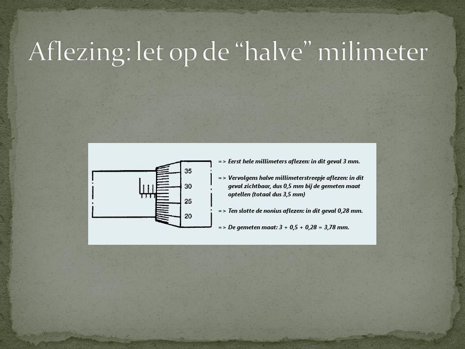 Aflezing: let op de halve milimeter