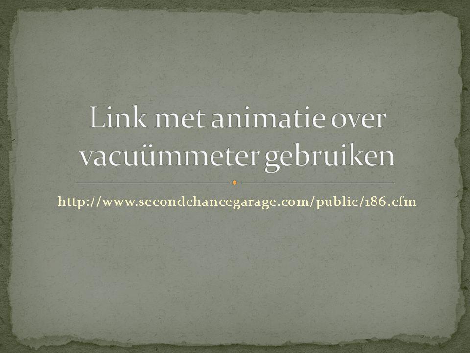 Link met animatie over vacuümmeter gebruiken