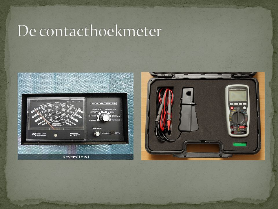 De contacthoekmeter