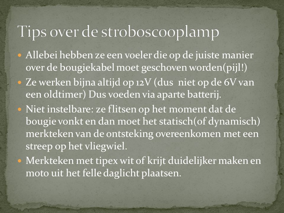 Tips over de stroboscooplamp
