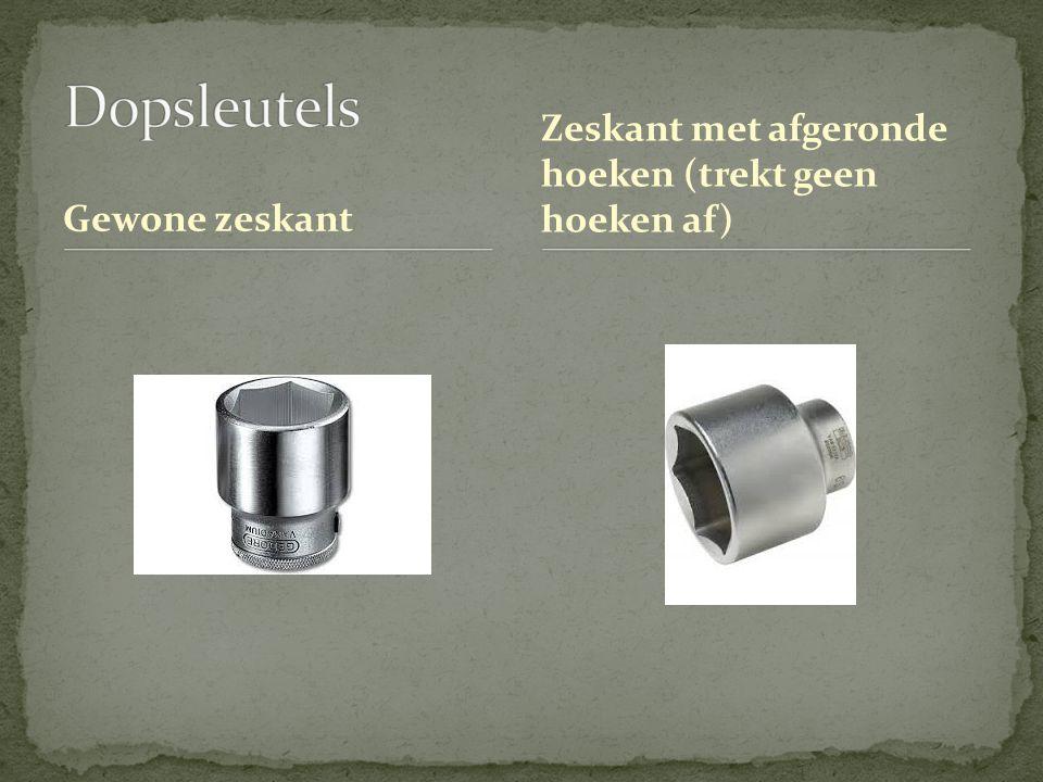 Dopsleutels Zeskant met afgeronde hoeken (trekt geen hoeken af)