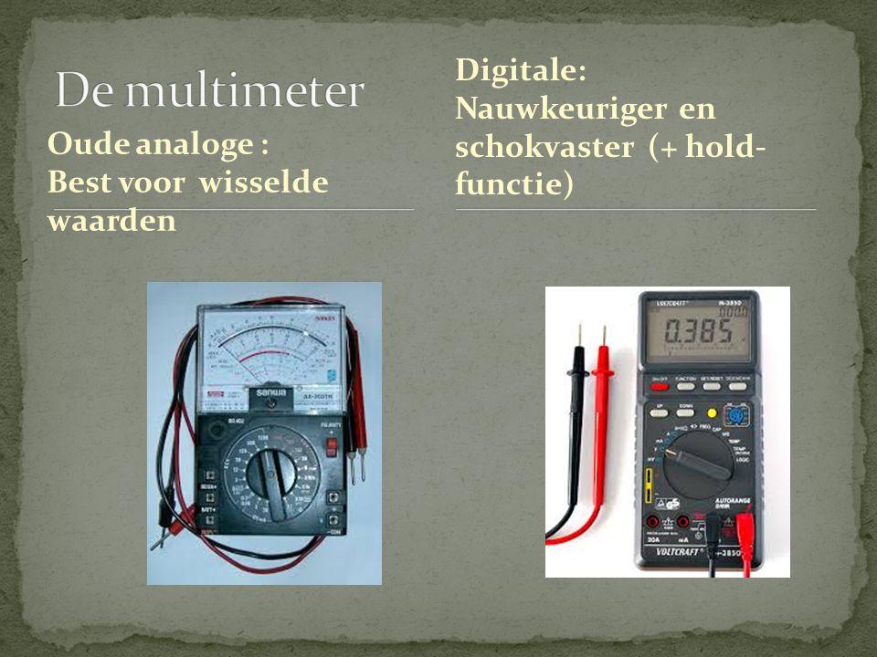 De multimeter Digitale: Nauwkeuriger en schokvaster (+ hold-functie)