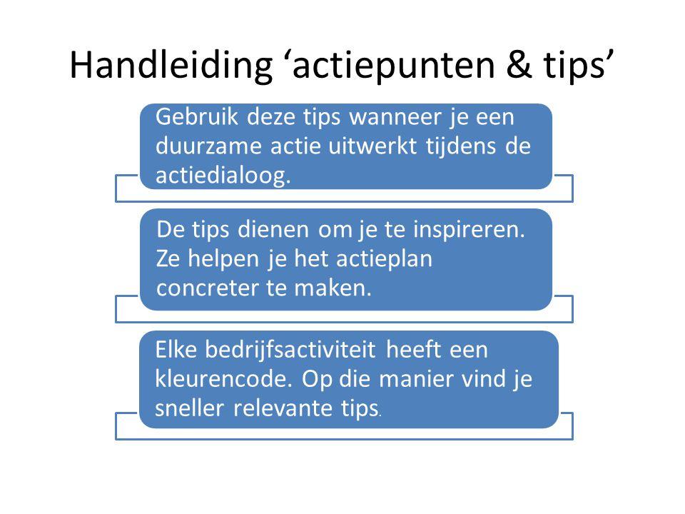 Handleiding 'actiepunten & tips'