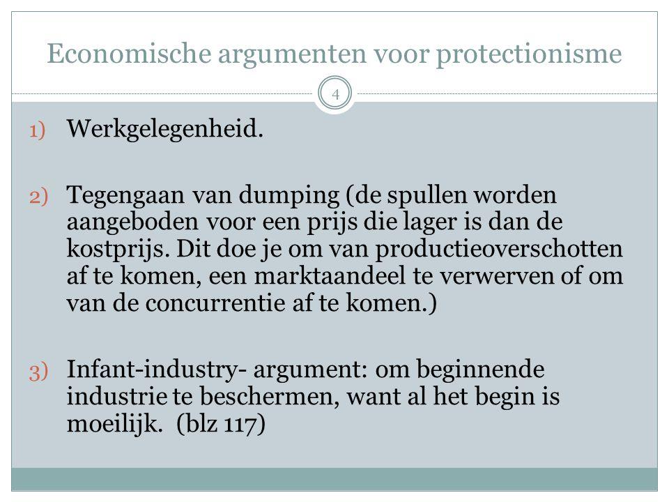 Economische argumenten voor protectionisme