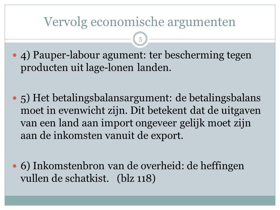 Vervolg economische argumenten