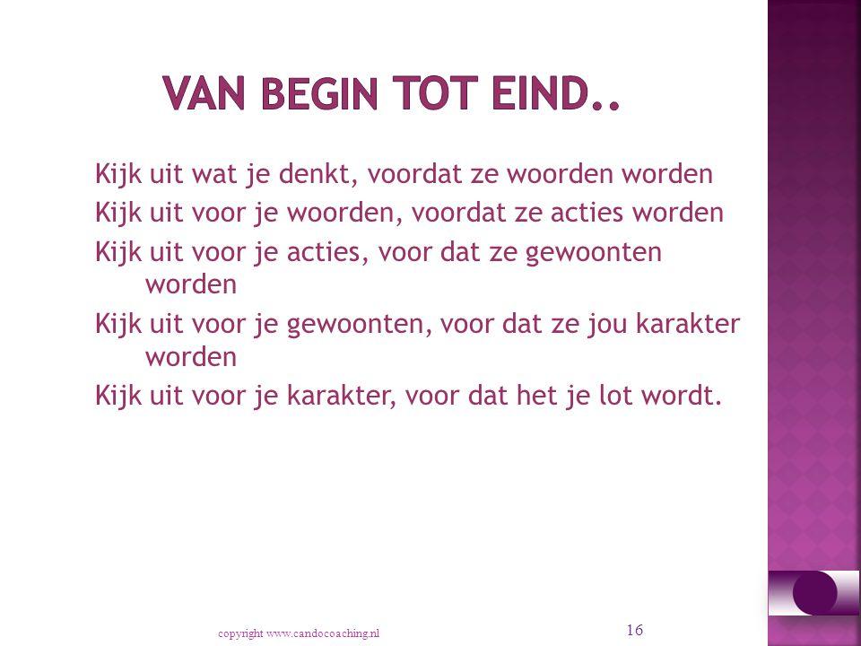 Van begin tot eind..