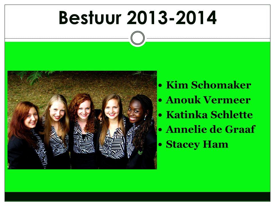 Bestuur 2013-2014 Kim Schomaker Anouk Vermeer Katinka Schlette
