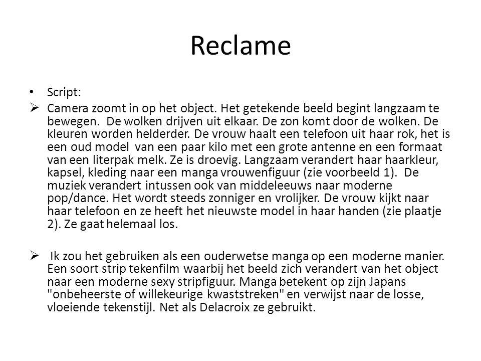 Reclame Script: