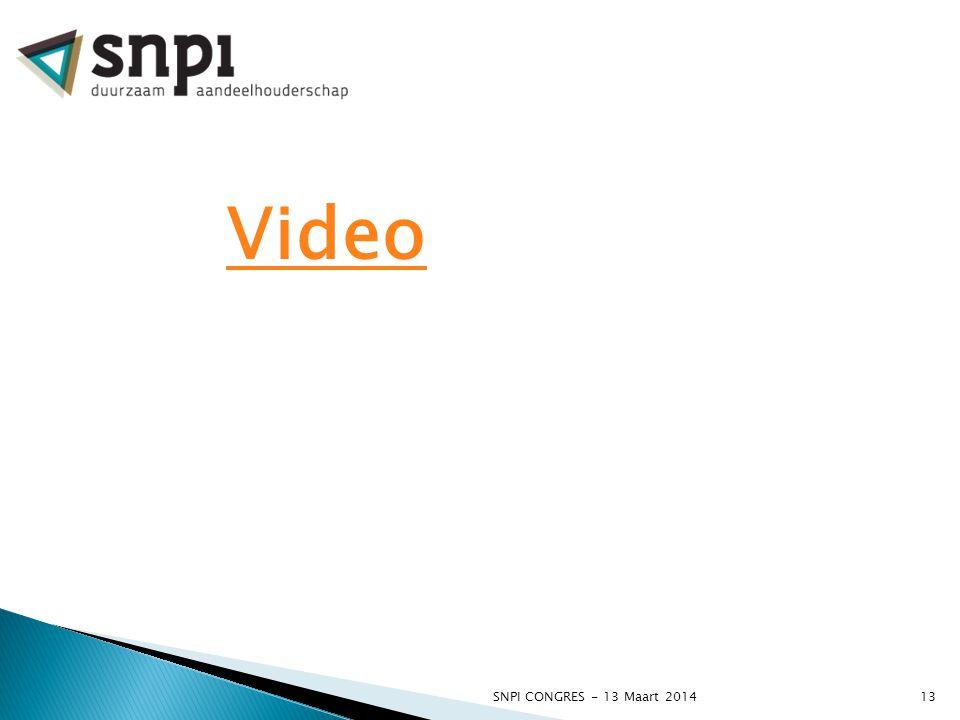 Video SNPI CONGRES - 13 Maart 2014