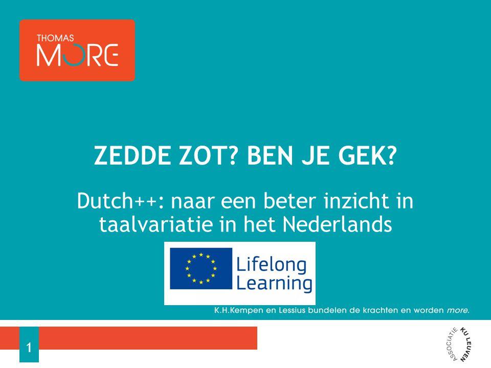 Dutch++: naar een beter inzicht in taalvariatie in het Nederlands