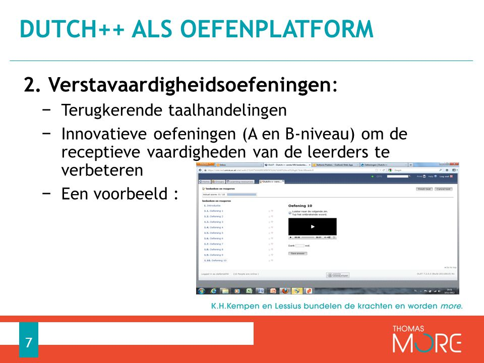 Dutch++ als oefenplatform