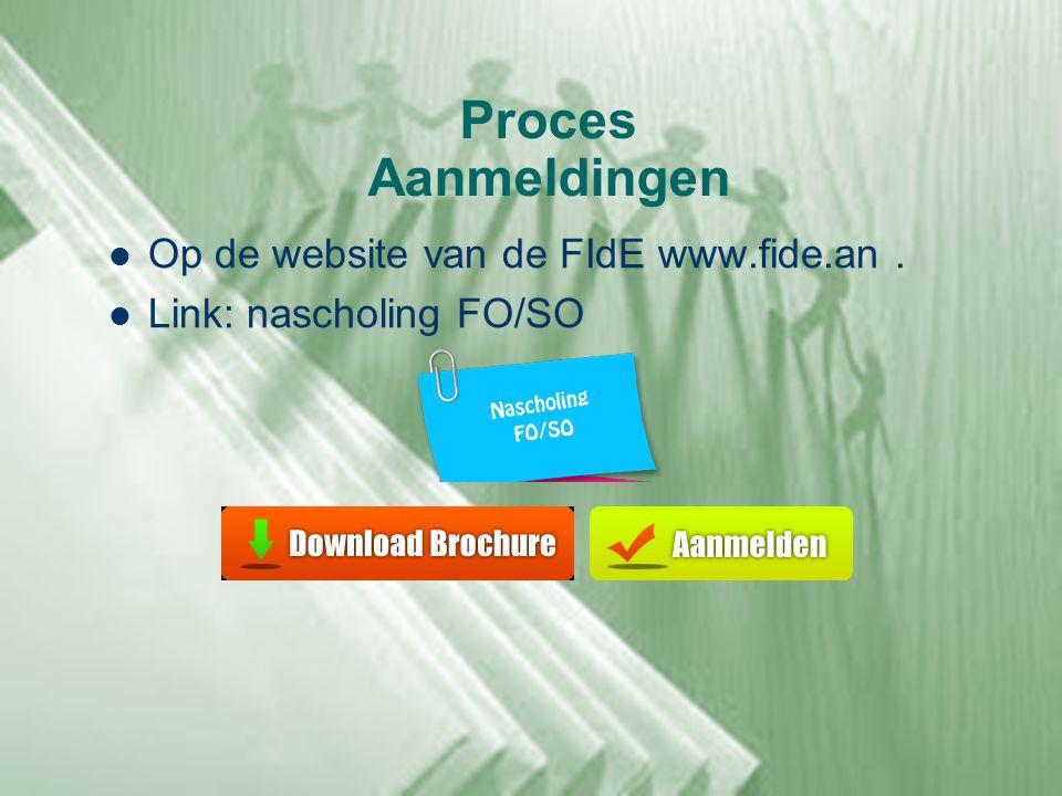 Proces Aanmeldingen Op de website van de FIdE www.fide.an .