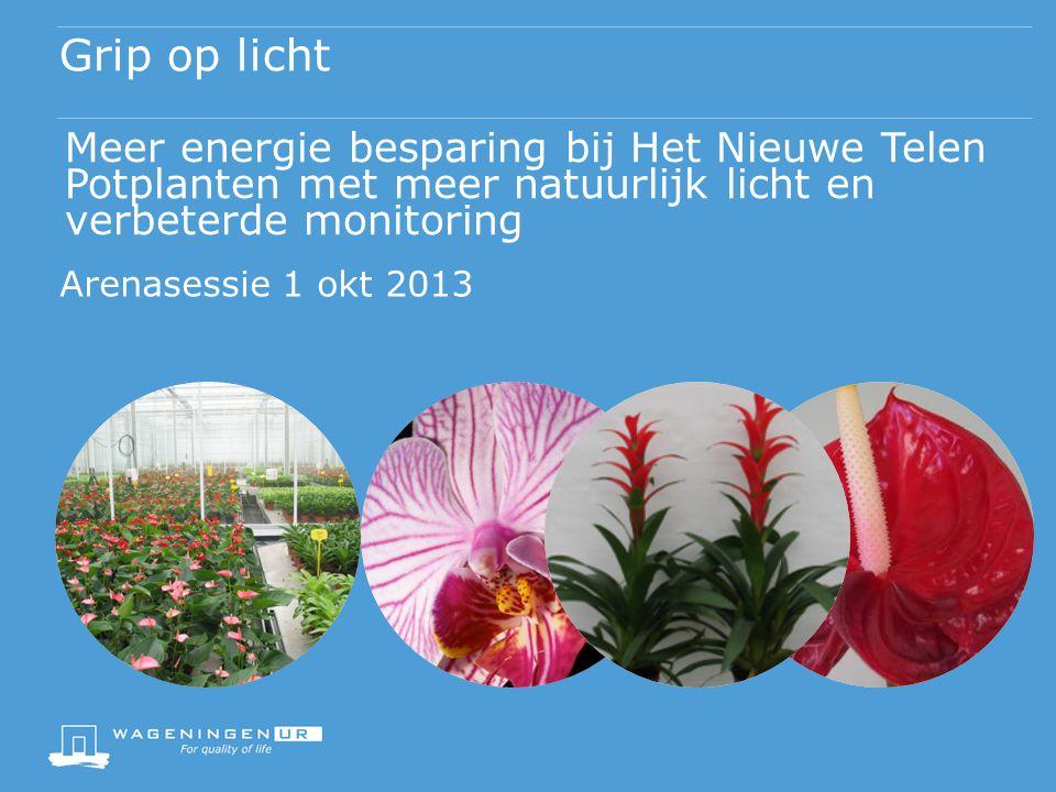 Grip op licht Meer energie besparing bij Het Nieuwe Telen Potplanten met meer natuurlijk licht en verbeterde monitoring.