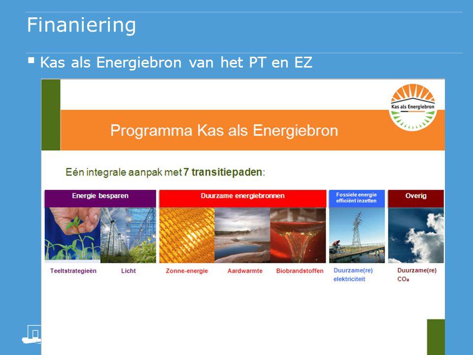 Finaniering Kas als Energiebron van het PT en EZ