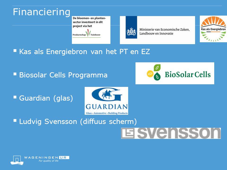 Financiering Kas als Energiebron van het PT en EZ
