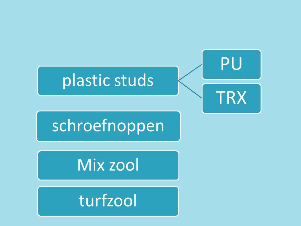 TRX PU plastic studs schroefnoppen Mix zool turfzool