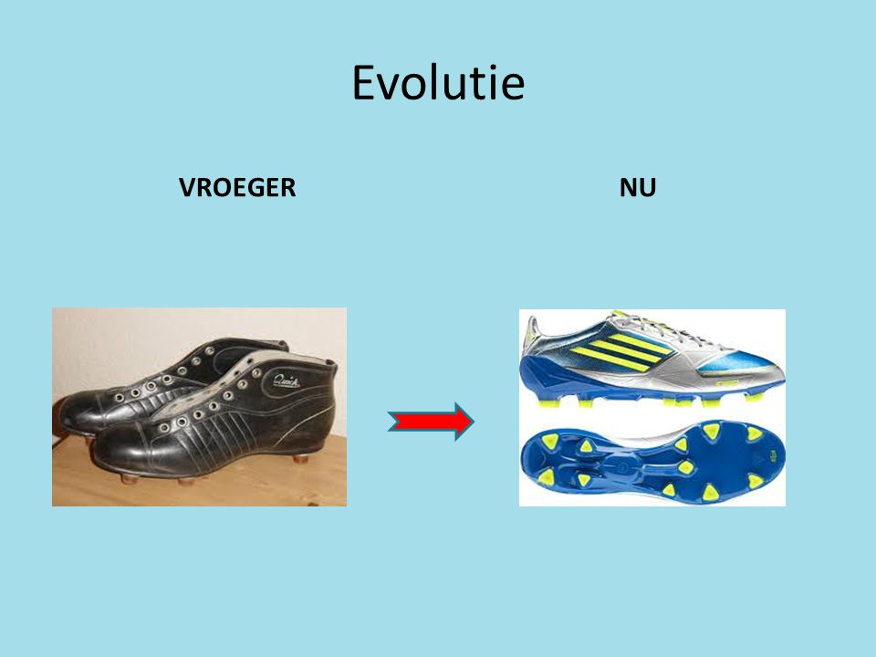 Evolutie VROEGER NU