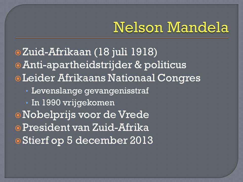 Nelson Mandela Zuid-Afrikaan (18 juli 1918)