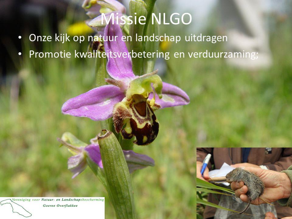 Missie NLGO Onze kijk op natuur en landschap uitdragen