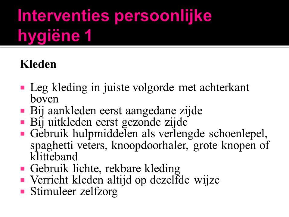 Interventies persoonlijke hygiëne 1