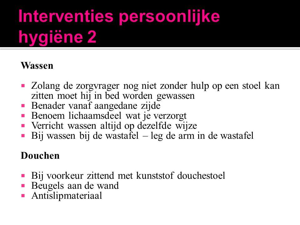 Interventies persoonlijke hygiëne 2