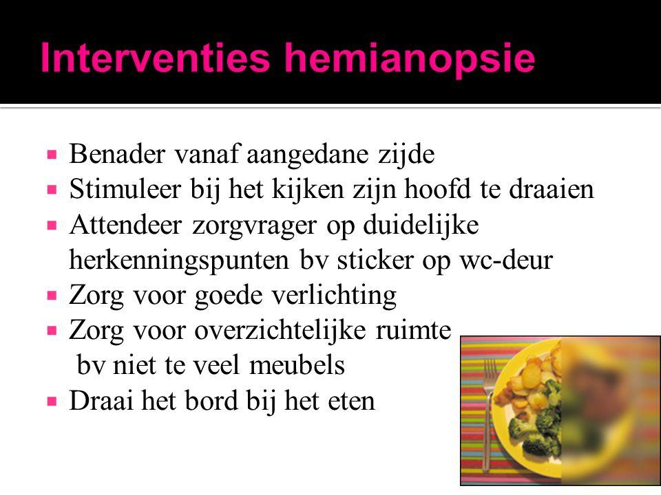 Interventies hemianopsie
