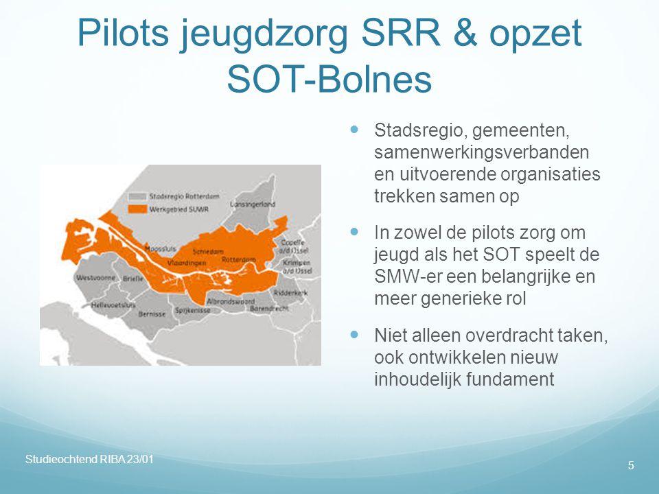 Pilots jeugdzorg SRR & opzet SOT-Bolnes