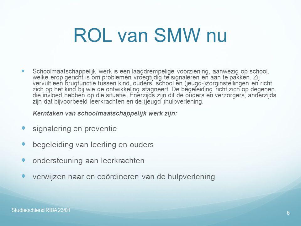 ROL van SMW nu signalering en preventie